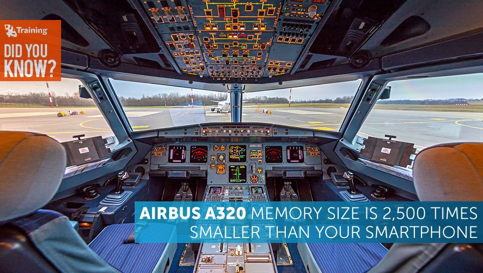 Did You Know that Airbus A320 Memory Size is 2,500 Times Smaller ...