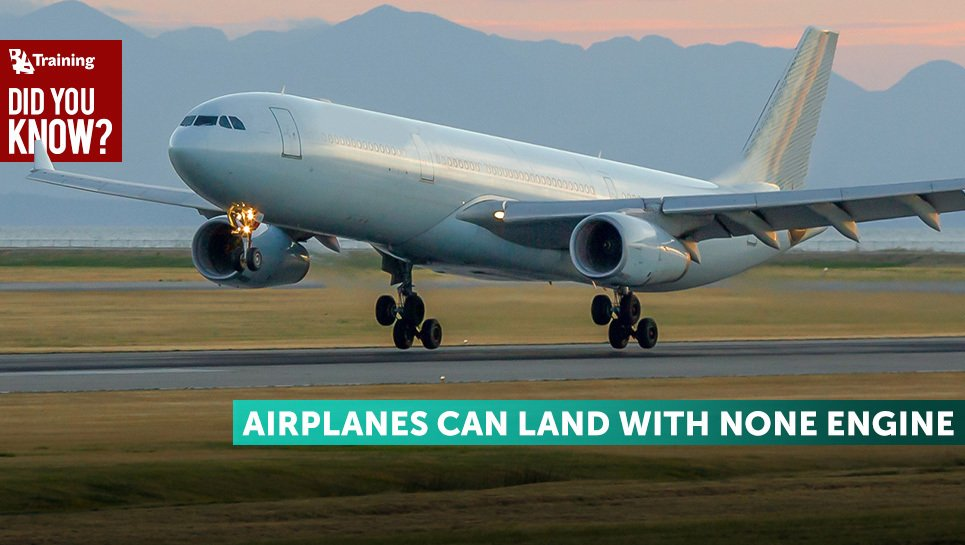 airplanes can land with none engine
