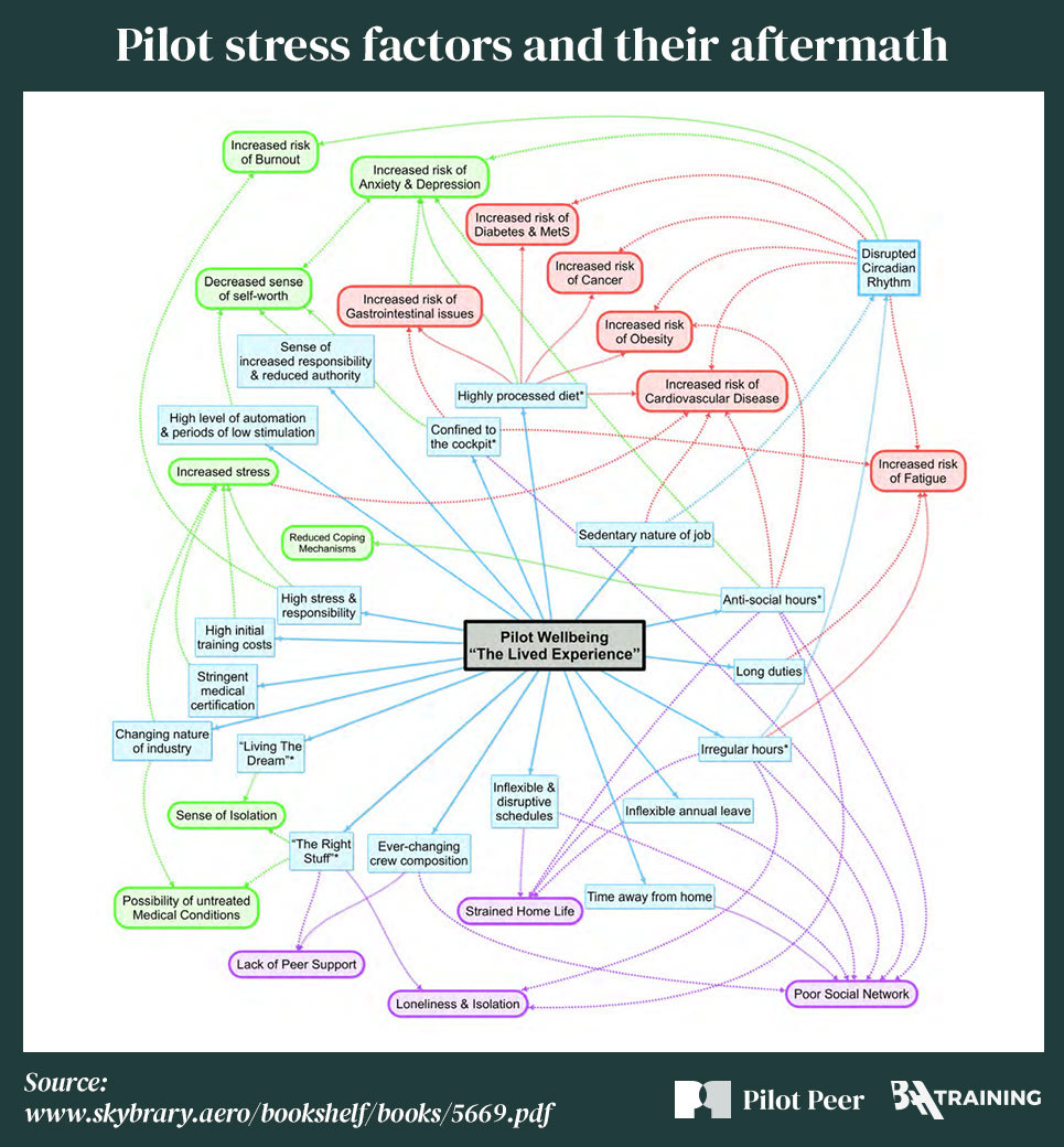 Pilot stress factors and their aftermath